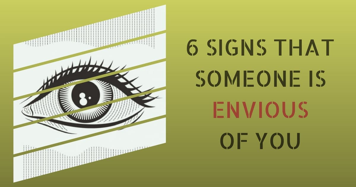 how to tell if someone is envious of you