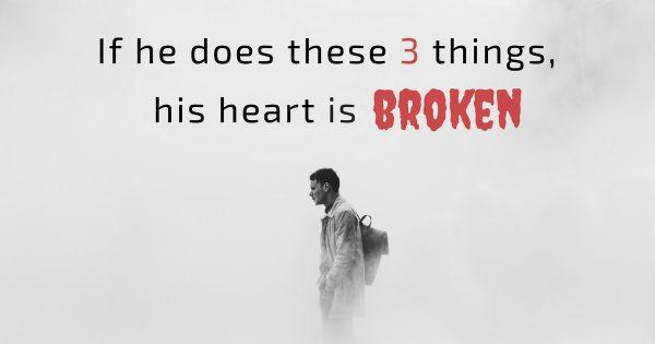 Signs of a broken heart woman